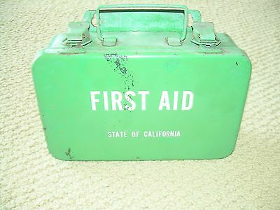 Vintage State Of California 10 Unit First Aid Kit
