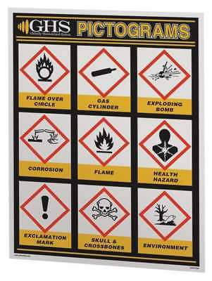 GHS Wall Chart,English GHS SAFETY GHS1027