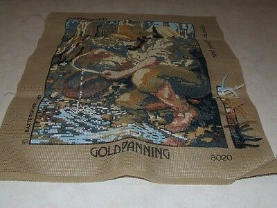 Baxtergrafik Tapestry - Gold Panning - Started - With Wool to complete