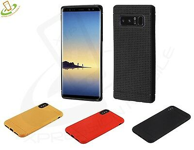 Rubber Case For Samsung GALAXY Note 8 Hybrid Silicone Skin TPU Soft Candy Cover