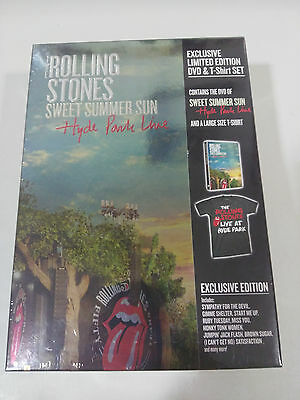 The Rolling Stones Sweet Summer Sun Hyde Park Line Box Dvd + T-Shirt New Sealed