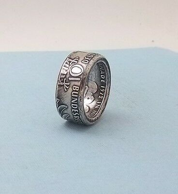 Made from a 1972 German 10 mark 62.5% silver coin ring size 10 1/2