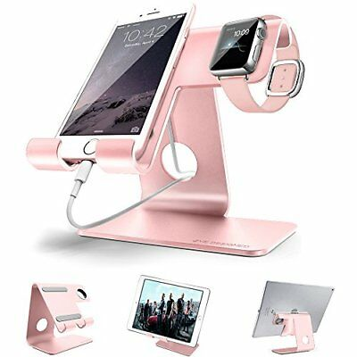 ZVE Universal Aluminium Desktop Cell Phone Stand for Smartphone and Tablets Rose