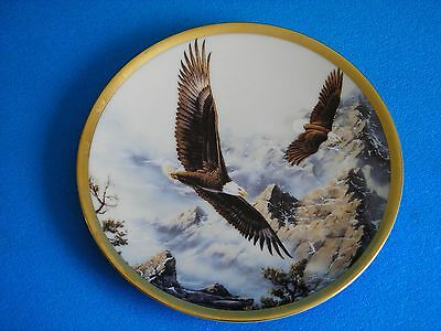 """Lenox  """" SOARING THE PEAKS """" from the Eagle Conservation Plate Collection"""