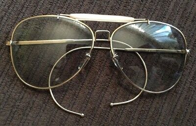 Vintage B & L Bushnell Driving Shooting Sunglasses Light Gray Lenses Bausch Lomb
