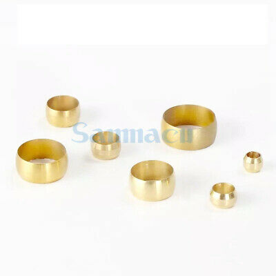 LOT 50 Brass Fit Compression Sleeve Fitting For 3-12mm O/D Tube