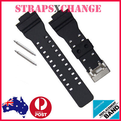 16mm WATCH BAND STRAP FITS CASIO G SHOCK GA-100 G-8900 GW-8900 PINS PIN gshock.