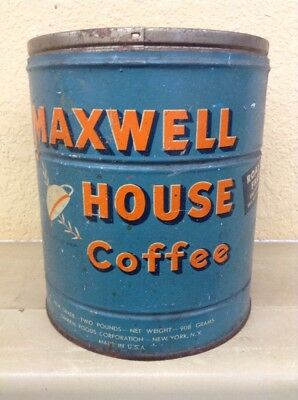 Vintage Maxwell House Coffee 2 Lb Tin Can