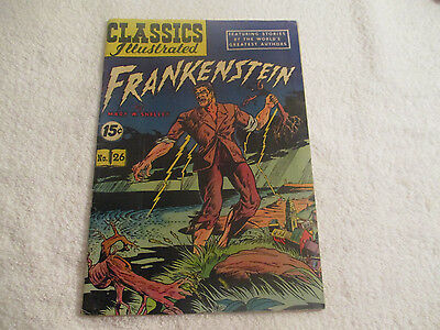 1945 December No. 26 FRANKENSTEIN Classics Illustrated Golden Age COMIC BOOK