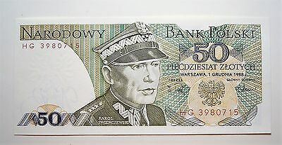 Poland 50 Zlotych Bank Note, Great condition aUNC