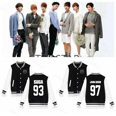 KPOP BTS Bangtan Boys Wings Baseball Uniform Jung Kook JIMIN Varsity Jacket