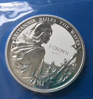 BRITANNIA RULES THE WAVES 2017 Falkland Islands 1 oz Silver Reverse Proof Coin