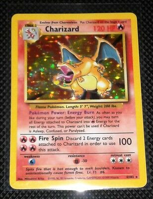 Charizard Holo Rare Base Set Number 4/102  L@@K!!!