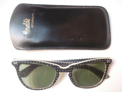 Vintage Calobar Junior Small Black RB3 Sunglasses with Case
