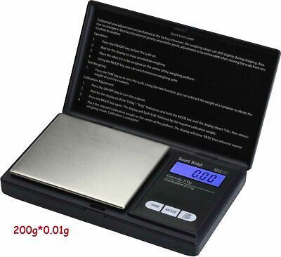200g * 0.01g LCD Digital Pocket Weighing Scale Jewelry Gold Gram Balance Weight