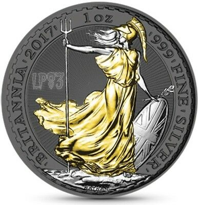 2017 1 Oz Silver UNITED KINGDOM BRITANNIA, RUTHENIUM Coin W/ Coa and Blister