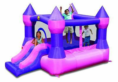 Pink and Purple Jumping Castle with Slide Happy Hop (9017P)