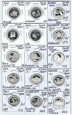 (15) Coin's Mix Lot Silver Proof Quarters