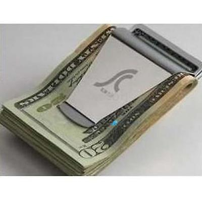 NEW Steel Slim Money Clip Double Sided Credit Card Holder Wallet BXX0