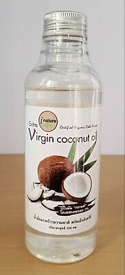 250ml Organic Virgin Coconut Oil for Hair Skin Health Unrefined Cold Pressed
