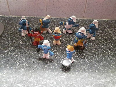 Smurf Lot of 9 smurfs