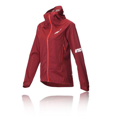 Inov8 AT/C Raceshell Womens Red Waterproof Long Sleeve Full Zip Jacket Top