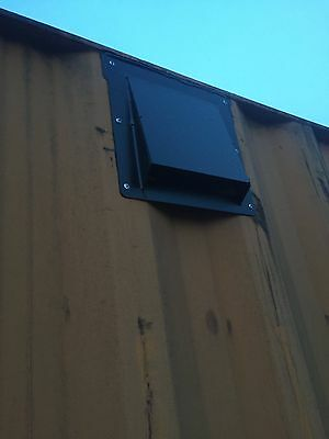 Shipping Container Air Vent (Easy Install) With Mesh. (uk Made)  New Design