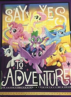 My Little Pony Say Yes To Adventure Quilt Panel  * Free Post *