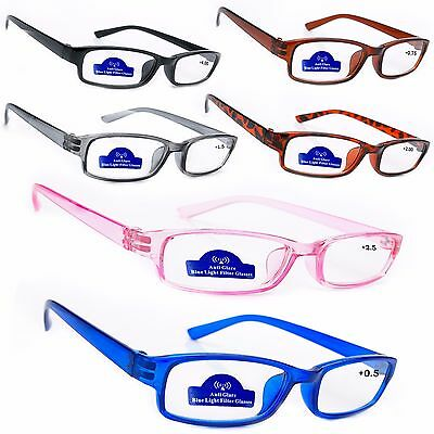 Women Anti Glare READING GLASSES +0.5 +1.0 +2.0 +3.0 Slim Computer gaming TV