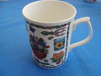 Duchess Coffee Tea Mug Multicoloured Floral Garden Tools Plants Wheelbarrow