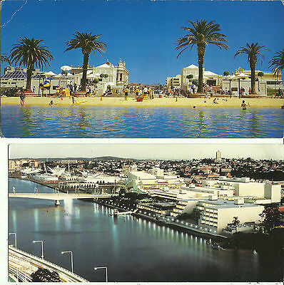 Two Postcards - Southbank, Brisbane, Queensland, Australia