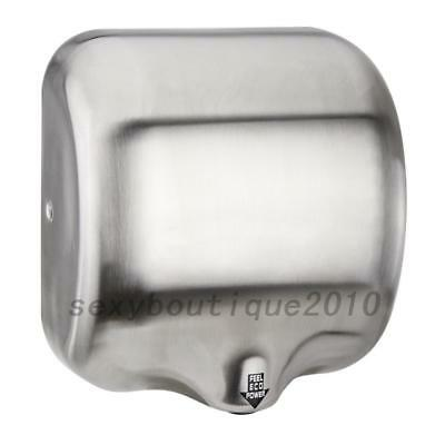 1800 Watts Automatic Hand Dryer High Speed Stainless Steel Brushed Durable US