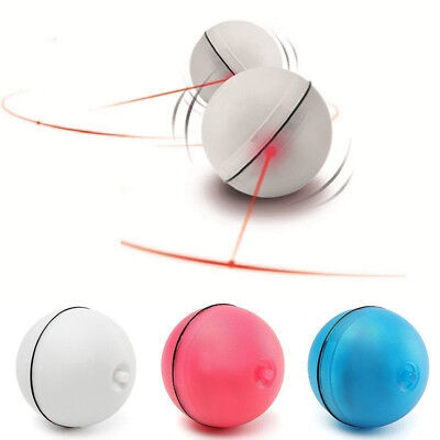 Funny Cat Pet Dog LED Light Laser Ball Teaser Exercise Automatic Interactive Toy