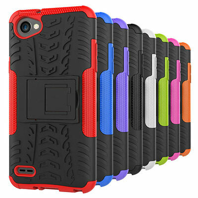 Rugged Hybrid Armor Shockproof Slim Kickstand Case Stand Cover For LG Q6/G6 Mini