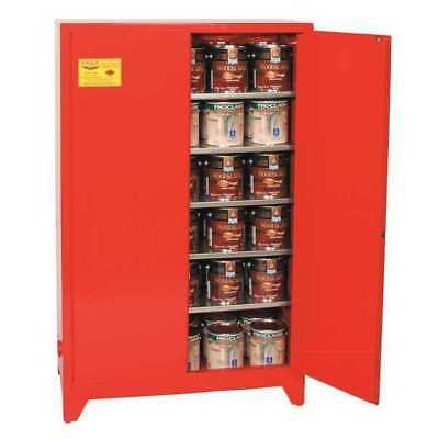 EAGLE PI-62LEGS RED Paints and Inks Cabinet, 96 Gal., Red