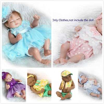 "High Quality For 10""-11'' Mini Newborn Reborn Outfit Baby Girl Boy Doll Clothing"