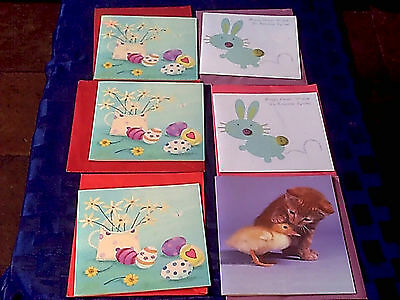 Assorted 6 Easter Cards New