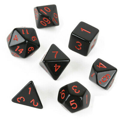 7pcs Multi-sided Game Dungeons & Dragons Polyhedral Acrylic Dice Set Nickel