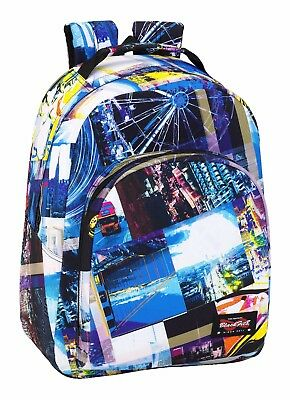"BLACKFIT8 ""CITIES"" Mochila grande adaptable a carro/backpack"