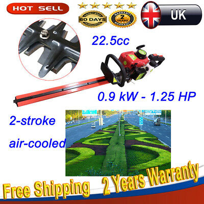 2-Stroke Hedge Trimmer Cutter Petrol Powered Garden Chainsaw Pruner Air-Cooled