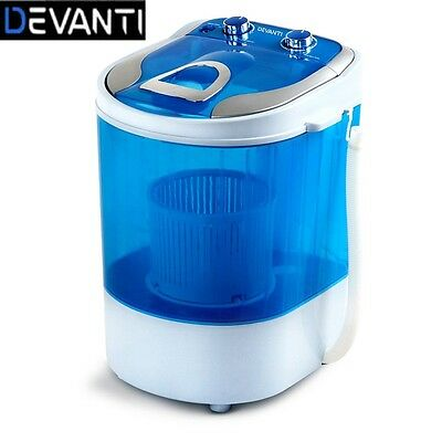 4KG Mini Portable Washing Machine Top Load 2 In 1 Spin Dry Camping Caravan Home