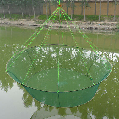 "Large 31"" Drop Landing Fishing Net Pier Harbour Pond Prawn Bait Crab Shrimp Net"