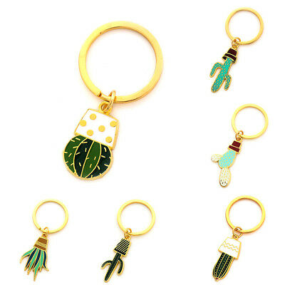 Creative Cute Lovely Plant Cactus Charm Car KeyChain Key Chain Ring Gift