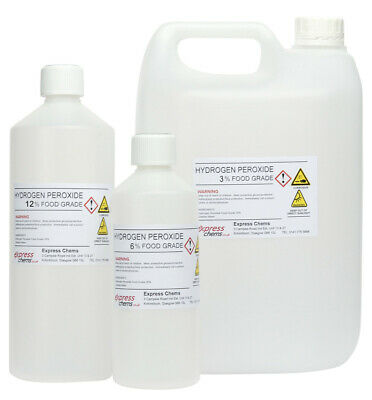 Hydrogen Peroxide Food Grade  30Ml Up To 5 Litres