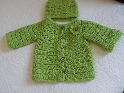 Baby cardigan new and hat