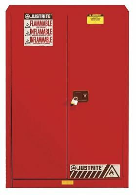 JUSTRITE 894521 Paints and Inks Cabinet, 45 Gal., Red