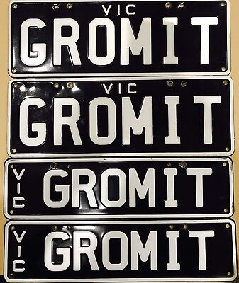 Victorian Number Plates GROMIT X2 Sets With Transfer Papers On Sale