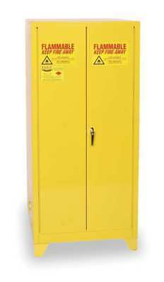 Flammable Safety Cabinet,60 Gal.,Yellow EAGLE 6010LEGS