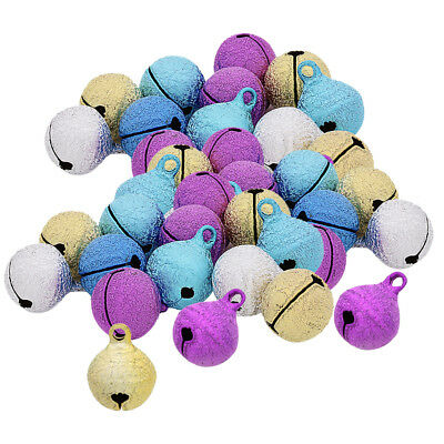 50x Colorful Jingle Bells Loose Beads Charms for Jewelry Making Kids Crafts