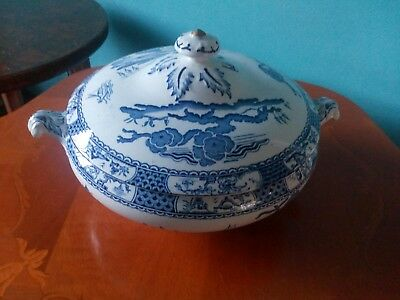 Blue and white china terrine dish / bowl